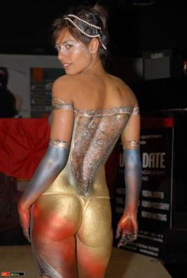 Naked, body painted, body art,super sexy female without clothes